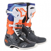 Alpinestars Tech 10  MX Boots Grey/Orange/Blue